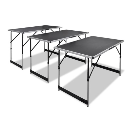Foldable Pasting Table Height Adjustable 3pcs