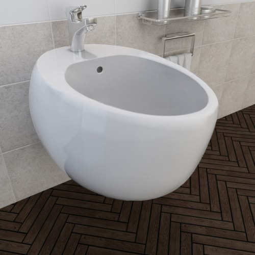 Wall Hung Bidet White Ceramic