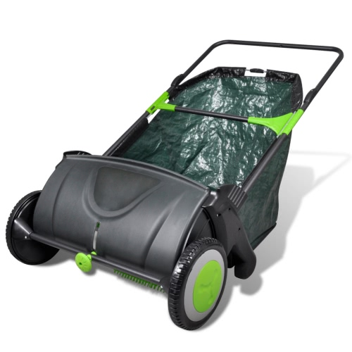 Lawn Sweeper Push with Removable Grass Bag 103L