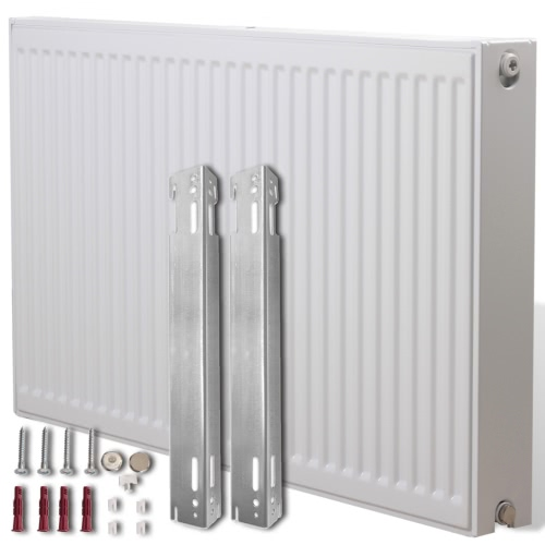 White Compact Convector Radiator Side Connectors 80 x 10 x 60 cm