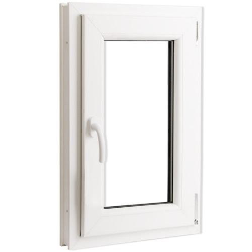 2 Commerce tilt vitrage et tourner PVC côté gauche poignée 500x750mm