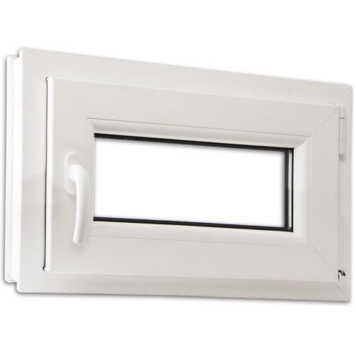 2 Fach Verglast Drehkippfenster PVC linksseitig Griff 600x400mm