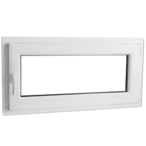 2 Commerce tilt vitrage et tourner PVC côté gauche poignée 800x400mm