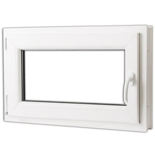 2 Commerce tilt vitrage et tourner PVC côté droit poignée 800x500mm