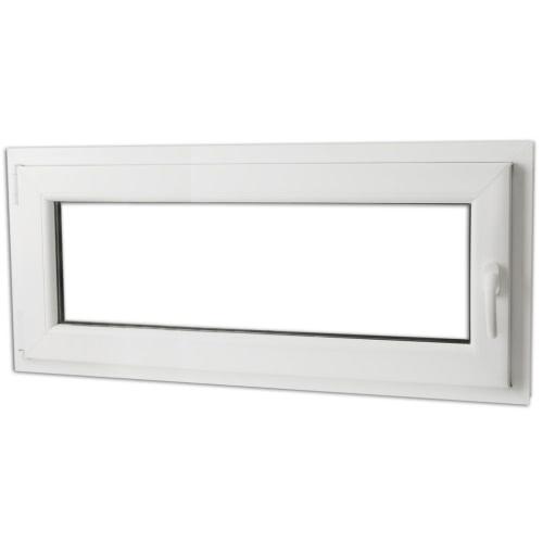 2 Fach Verglast Drehkippfenster PVC rechtsseitig Griff 900x400mm