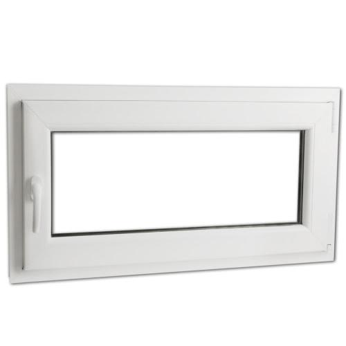 2 Fach Verglast Drehkippfenster PVC linksseitig Griff 900x500mm
