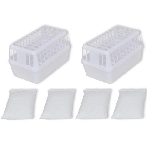 Plastik Trockenmittelbehälter mit 4 kg Kalziumchlorid (2er-Set)