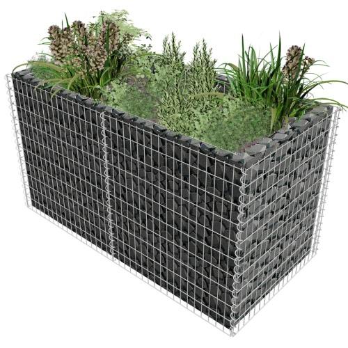 Plantador de gavión 180 x 90 x 100 cm