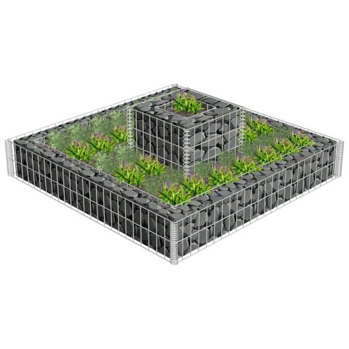 2 Tiered Gabion Planter