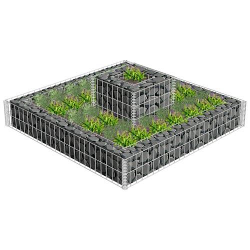 2 Tiered Gabion Planter