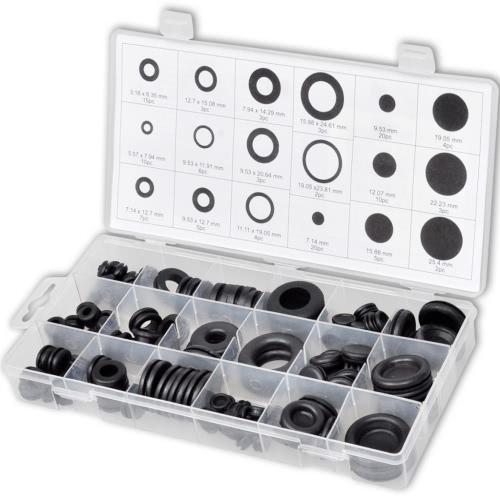 Surtido de ojales de goma para sellado y obturación (125 unidades)