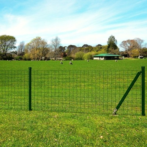 Euro fence set with pegs 25 x 1.7 m steel green