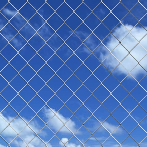 Chain-Link Fence Set with Spike Anchors 1.95x25 m Galvanised