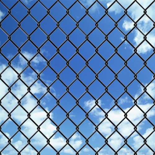 Chain-Link Fence Set com Spike Anchors 1,97x15 m Gray