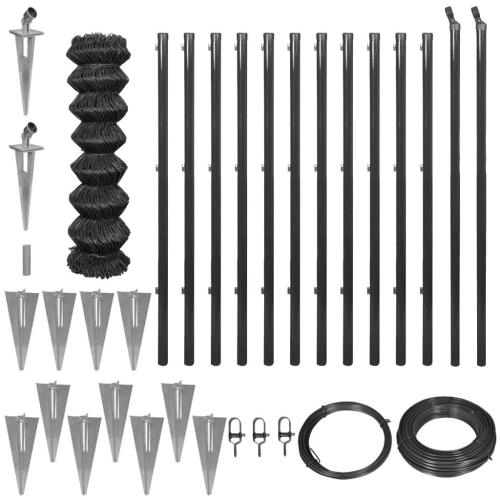 Забор цепи с привязкой для пика 1,25x25 м Серый
