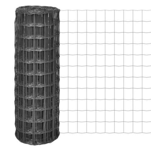 Barrière Euro 10 × 1 m avec maille 77 × 64 mm acier gris