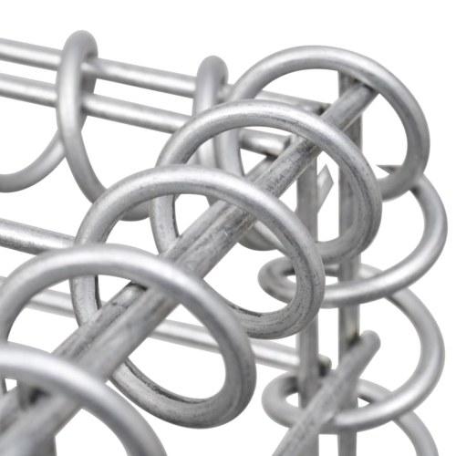Cesto gabbione in acciaio a forma di U 570 x 20 x 100 cm