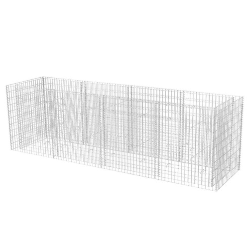 Vassoio per piantare gabbioni in acciaio 360 x 90 x 100 cm