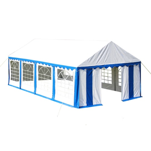 namiot 4 x 8 m niebiesko-biały