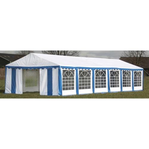 Tente de réception 6 x 12 m bleu-blanc