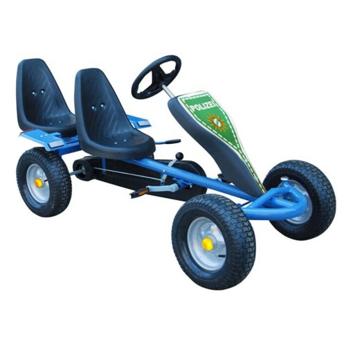 Blue Pedal Go-Kart Two Seats Fun with 2 Stickers