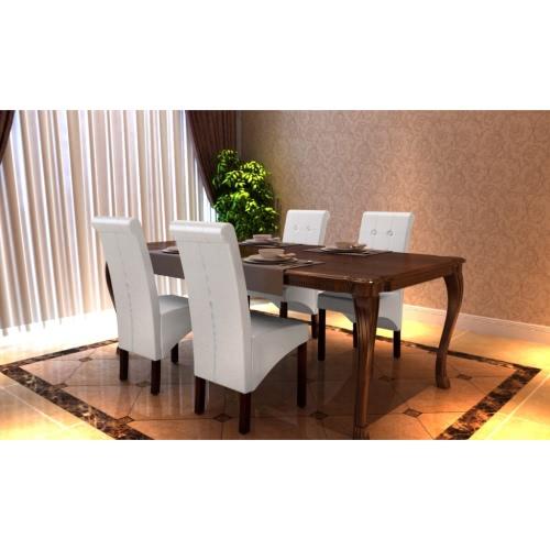 4 sillas de comedor blanca x