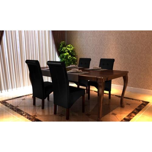 4 sillas de comedor x negro