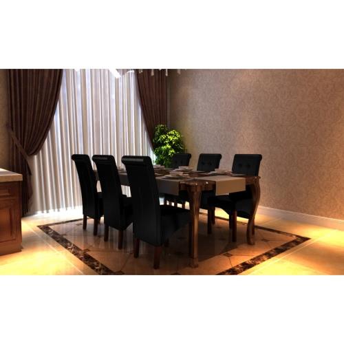 6 sillas de restauración x Negro
