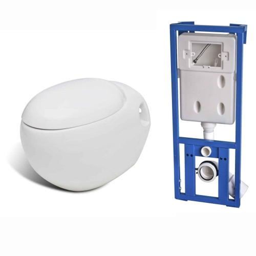EGG CONCEPTION WALL WC SUSPENDU / WC-SET WHITE INCL. CITERNE