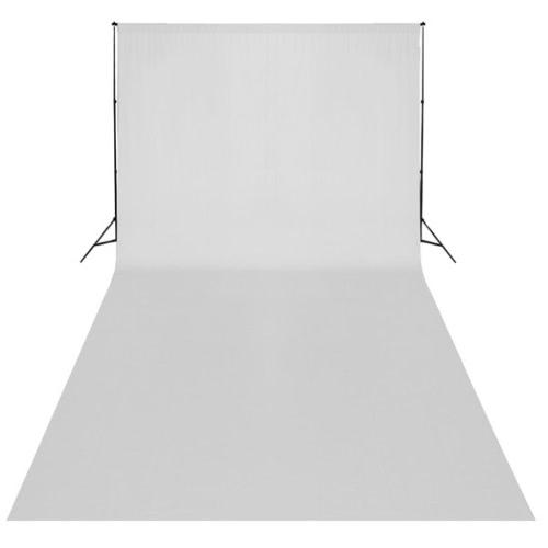 Zdjęcie tła tkaniny 6 x 3 m zwykły biały