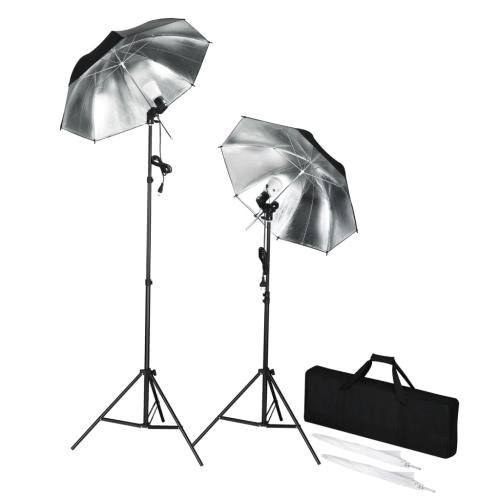 Studio Flash (2 sztuki) z statywy i parasolki, przenośnych