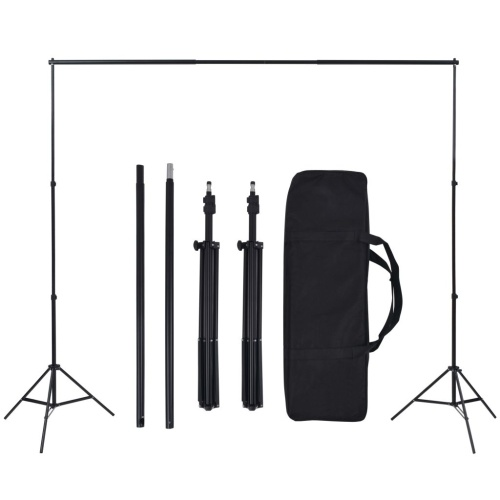 Photo Studio Set with 5 colored backgrounds and adjustable suspension