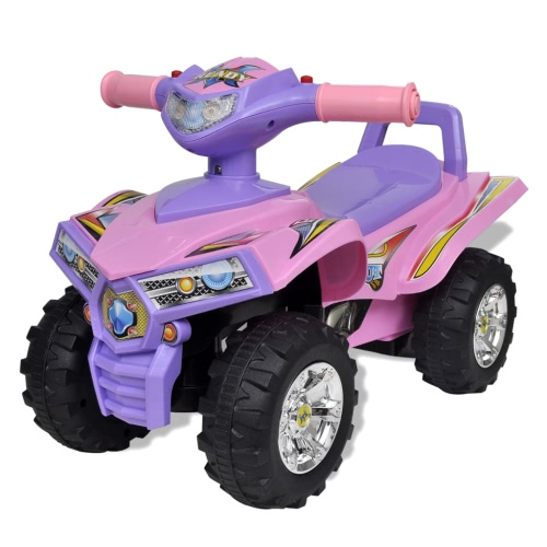 Pink-purple Children's Ride-on Quad with Sound and Light