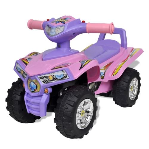 Розово-фиолетовые Детская Ride-на Quad со звуком и светом