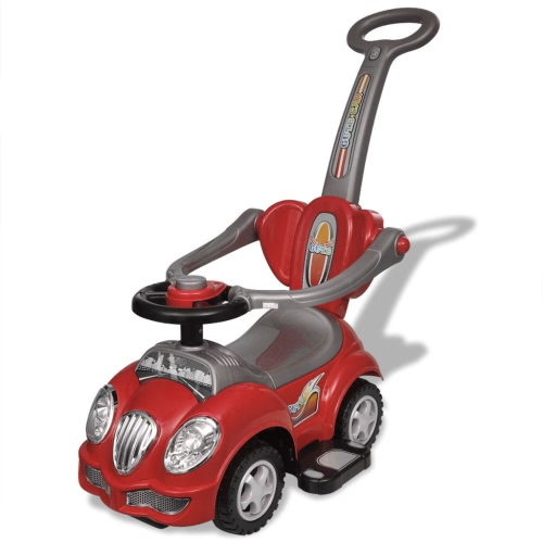 Ride-sur Red enfants Car avec Push Bar