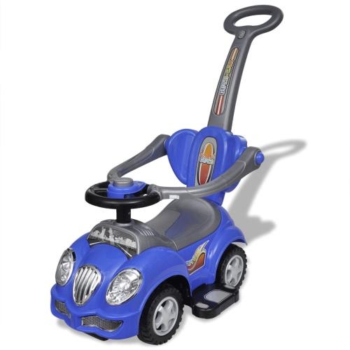 Ride-on Blue coche de los niños con barra de empuje