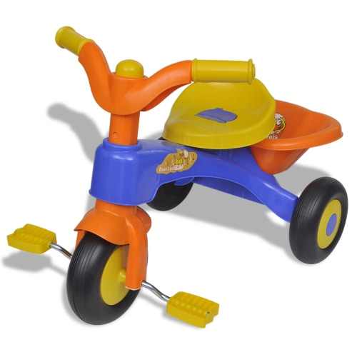 Orange-blue Children's Smart Tricycle