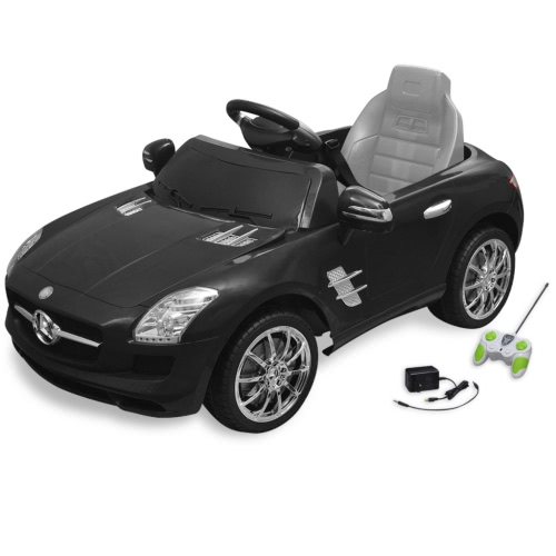 Electric Ride-on Car Mercedes Benz SLS AMG Black 6 V Remote Control