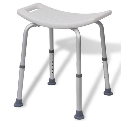 vidaXL Shower Stool Aluminium White