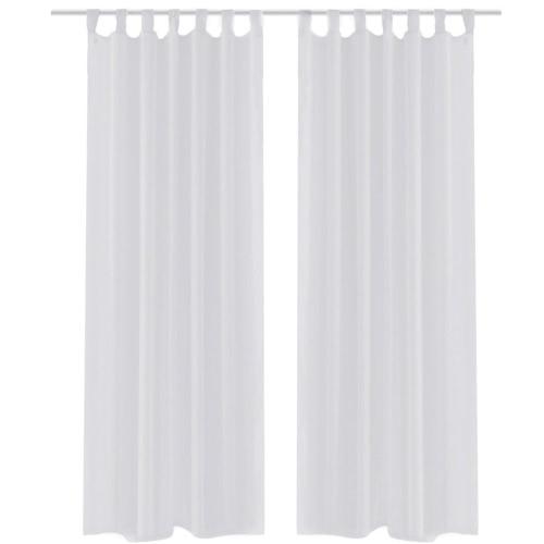 White Sheer Curtain 140 x 245 cm 2 pcs