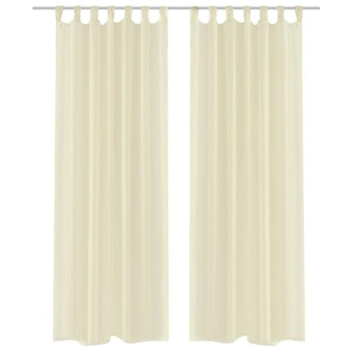 Crema Sheer Curtain 140 x 175 cm 2 pz