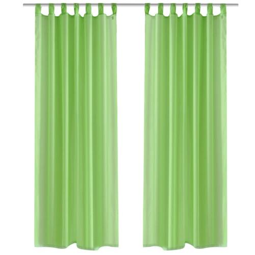 Apple Green Sheer Curtain 140 x 175 cm 2 pcs