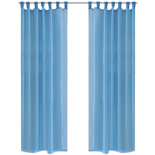 Turquoise Sheer Curtain 140 x 245 cm 2 pcs