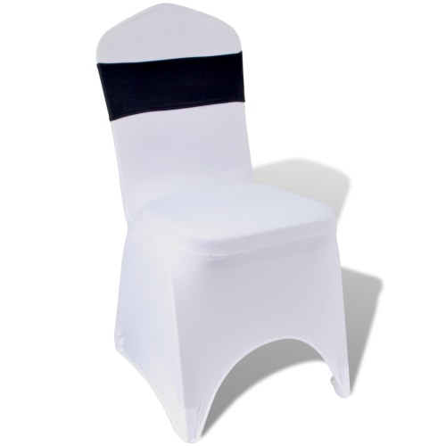 25 pcs Black Stretchable Decorative Chair Band with Diamond Buckle
