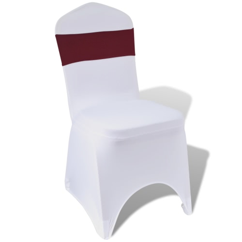 25 pcs Bordeaux Stretchable Decorative Chair Band with Diamond Buckle