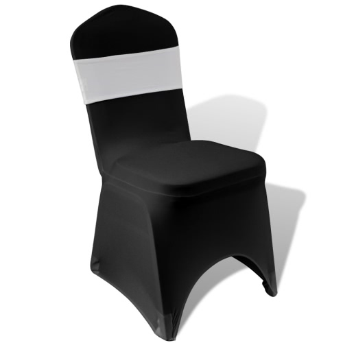 25 pcs Cream Stretchable Decorative Chair Band with Diamond Buckle
