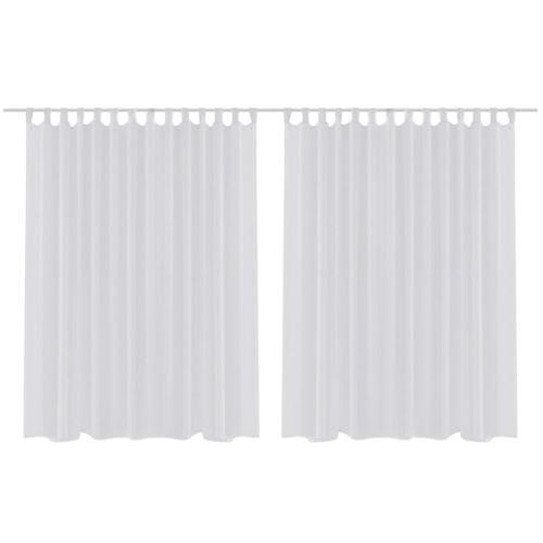 2 pcs Sheer Curtain 290 x 225 cm White