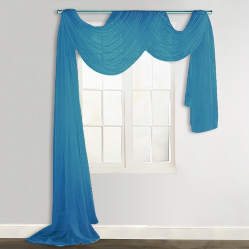 Sheer Voile Drape 140 x 600 cm Turquoise