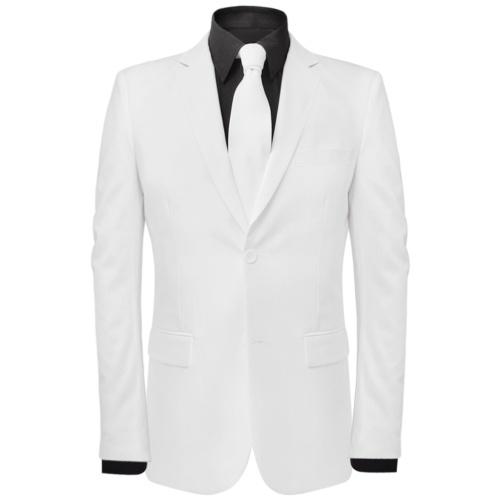Vestito due pezzi da uomo  con cravatta bianca Taglia 56