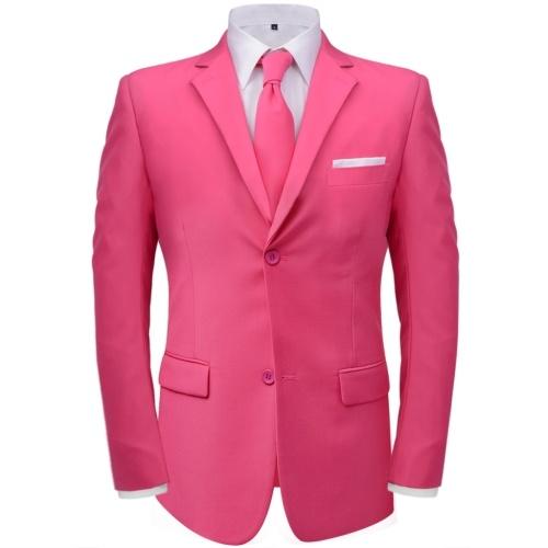 Vestito due pezzi da uomo  con cravatta rosa Dimensioni 54